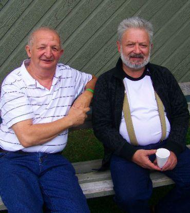 Yosl Pollack, left and Edward Kagansky at KlezKanada.