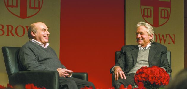 Nathan Sharansky (L) and Michael Douglas (Right)