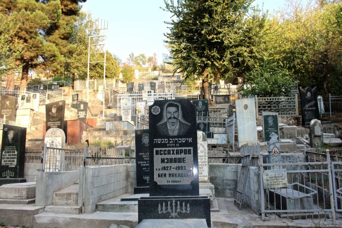 Left Behind: Dushanbe's Jewish cemetery reflects the mix of Asian and European Jews who lived in Tajikistan before a mass exodus began in the early 1990s.