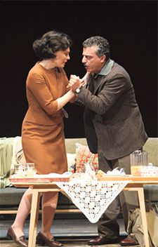 Shattering: Families thrown into chaos on both sides of the divide in Israeli society are dramatized by this controversial new piece of theater, here shown in the original Tel Aviv production.