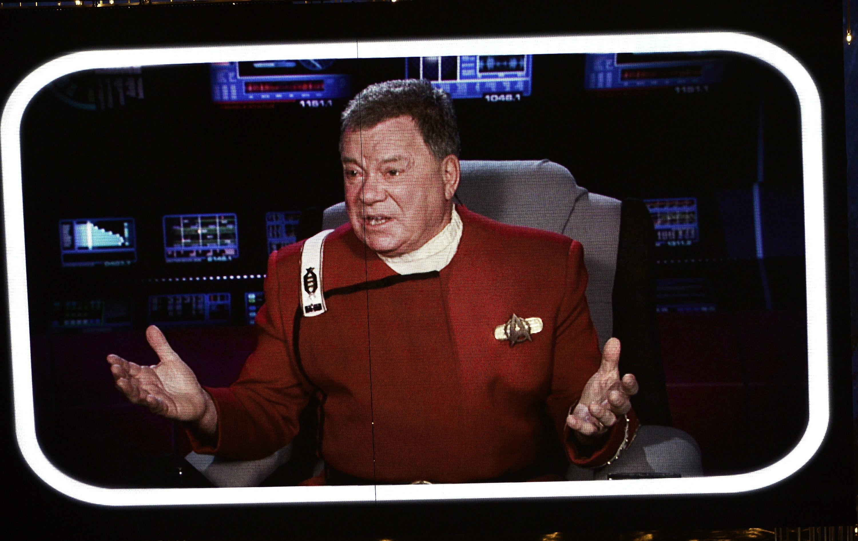 William Shatner as Captain Kirk in 'Star Trek.'