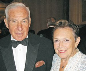 Helping Hands: Ann Bialkin, right, with husband Kenneth.