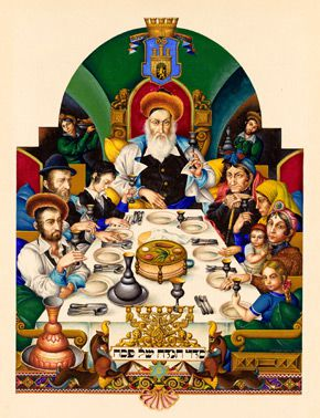 This Night: A page from the Szyk Haggadah.