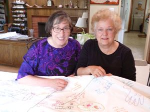 From left to right above: Karen Fink and Jeannette Hartman