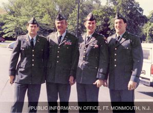 Family Service: Throughout their time in the military, Alan, Benjamin, Dave, and Sid Abramowitz has help from rabbis in keeping Jewish tradition a part of their lives.