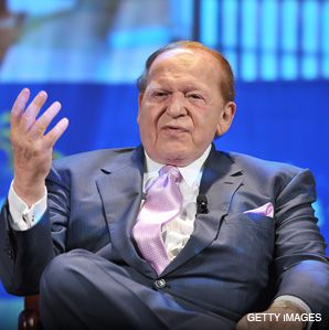 PULLING BACK: Billionaire Sheldon Adelson, above, pledged $30 million to Birthright Israel over the next two years.