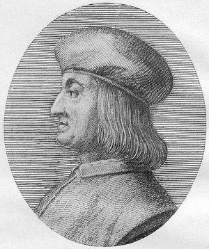 The Father of Italics: Printer Aldus Manutius seems pleased with his work.
