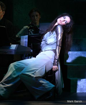 Charlotte Cohn plays a gargoyle, one of more than 100 characters in Frank London's new staging of 'A Night in the Old Marketplace'