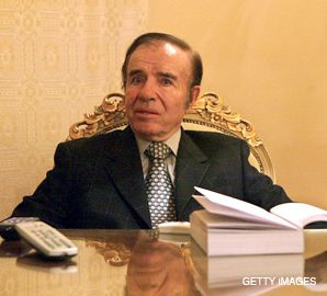 UNDER SUSPICION: Carlos Menem, Argentina?s president from 1989 to 1999 is being accused of a cover-up connected to the attack.