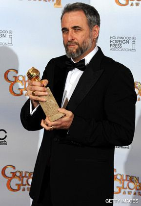 NEXT STOP, OSCAR: Ari Folman, the filmmaker behind the animated documentary ?Waltz With Bashir? with his Golden Globe award.