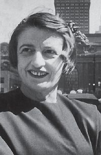 Atheist: Rand, a Jewish-born novelist and philosopher, was an outspoken critic of religion.