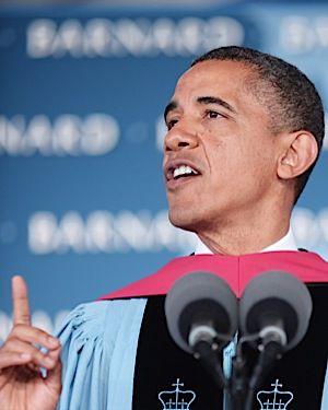 Barack Obama speaks at Barnard?s commencement.