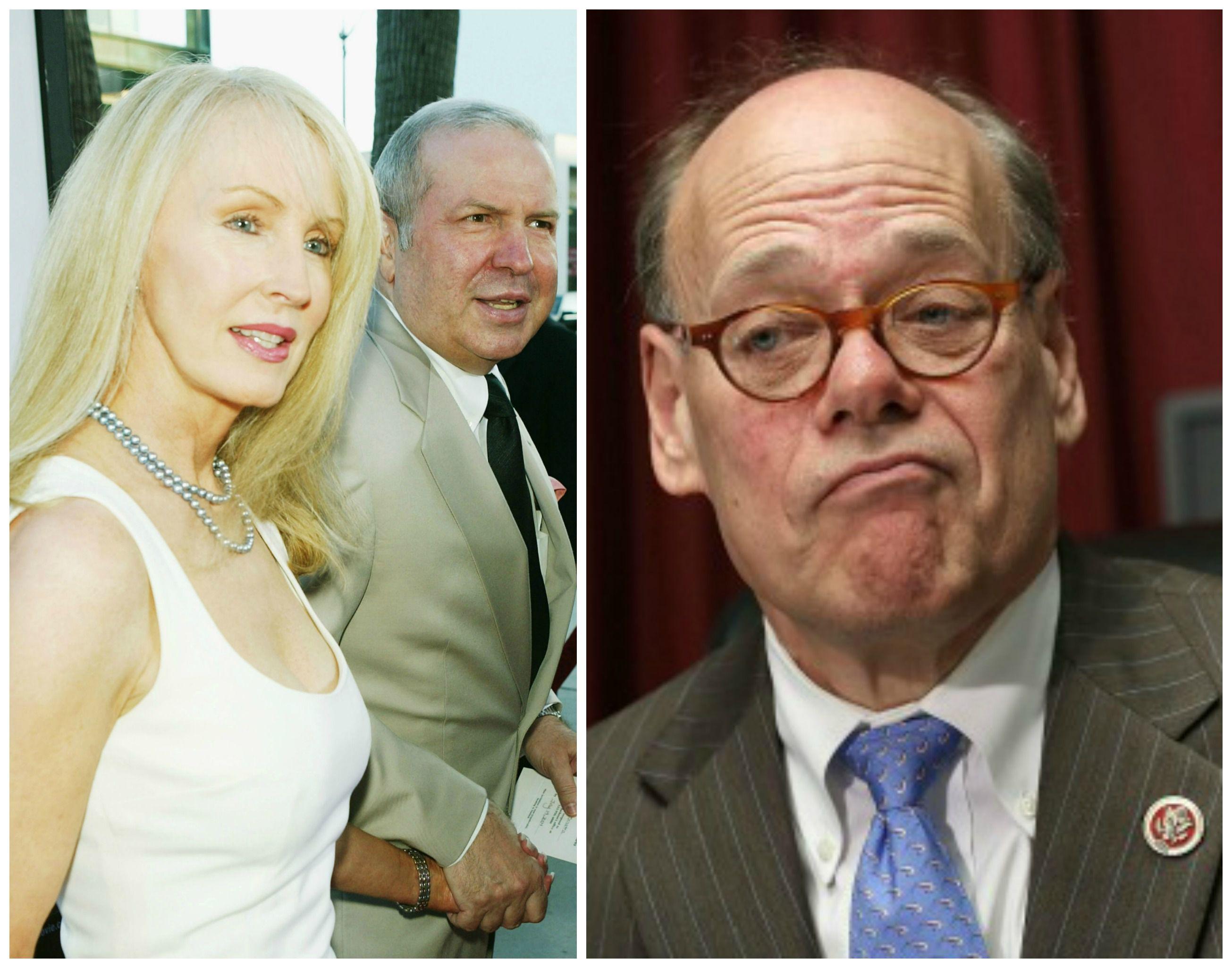 Right: Rep. Steve Cohen. Left: Ex-Cohen lover Cynthia Sinatra with ex-husband Frank Sinatra Jr.