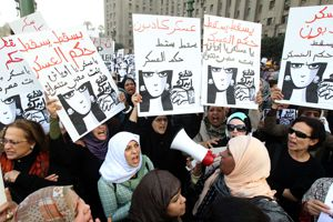 Egyptian women protest in Cairo, December 20, 2011.