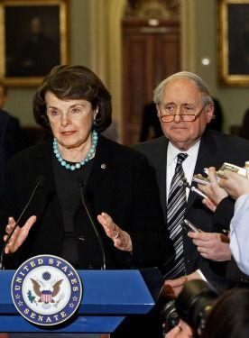 Opposing new sanctions: Senators Carl Levin, Dianne Feinstein