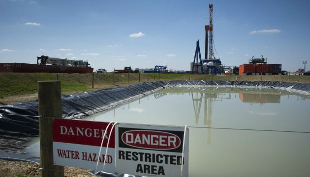 Fracking site, Marcellus Shale, Pennsylvania