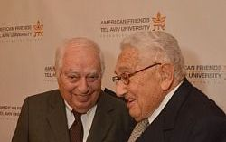 Bernard Lewis chats with Henry Kissinger