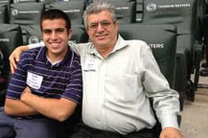 In Dad?s Name: Sami Rahamim with his late father, Reuven Rahamim, who was killed in a workplace shooting in Minnesota on the day after Yom Kippur.