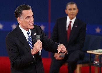 Barack Obama And Mitt Romney in the second Presidential.