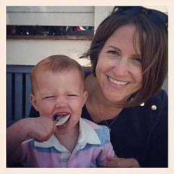 Elissa McDuffie Brown with her daughter Camden.