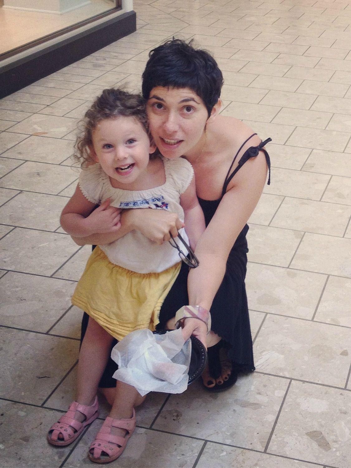 Deborah Kolben and her daughter, Mika