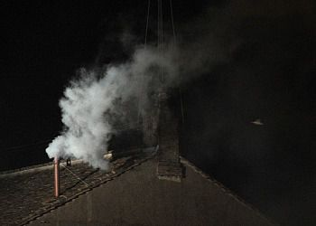 White smoke rose from the chimney on the roof of the Sistine Chapel, signaling a new pope has been elected.