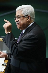 Mahmoud Abbas at the UN General Assembly on September 27.
