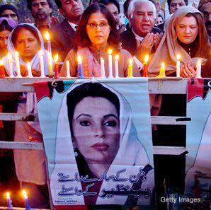 VIGIL: A candlelight memorial vigil in memory of slain former premier Benazir Bhutto took place in Lahore, Pakistan, this week.