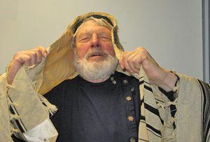 Theatrics: Theodore Bikel during a performance of ?Sholom Aleichem.?