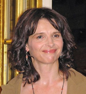 Artist Binoche: The actress spoke at an exhibition of her work at the French Embassy.