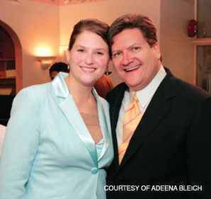 TODAY I AM A CANDIDATE: Bleich and former California Assembly Speaker Bob Hertzberg at a bar mitzvah in Hancock Park.