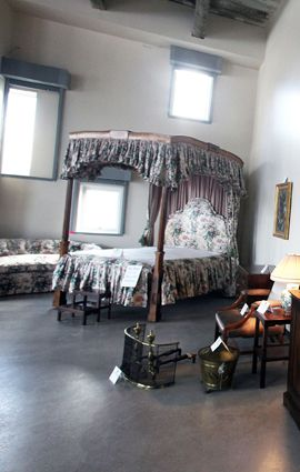 The bed, on the auction block.