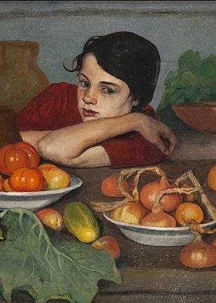 Detail from ?Girl With Vegetables? by Jerzy Ascher, 1925.