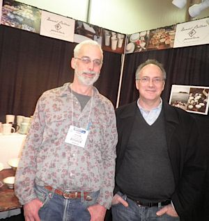 Daniel Bellow (left) and his brother Adam Bellow at the New York International Gift Fair.