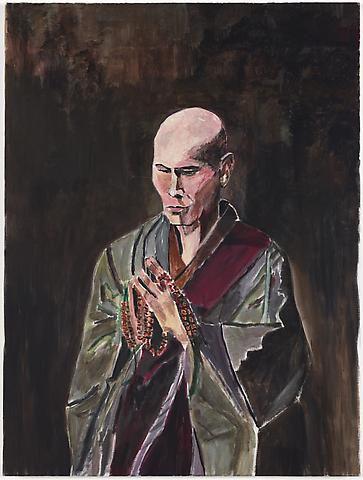 Bob Dylan, ?The Monk,? 2009, Acyrlic on canvas. Photo by Joshua White.