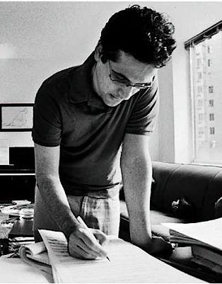 Composer Avner Dorman at work.