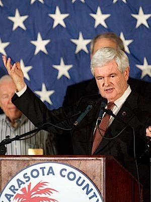 GOP presidential hopeful Newt Gingrich.