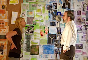 Claire Danes as Carrie Mathison and Mandy Patinkin as Saul Berenson in ?Homeland.?