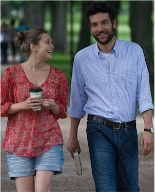 Josh Radnor as Jesse and Elizabeth Olsen as Zibby in ?Liberal Arts.?