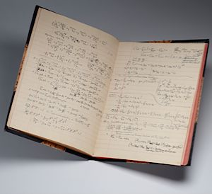 Albert Einstein?s journal from 1922. Courtesy of the Morgan Library and Museum.