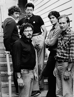 Lawrence Kasdan with the cast of ?The Big Chill.?