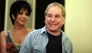 Paul Simon at a press conference in Tel Aviv on July 21.