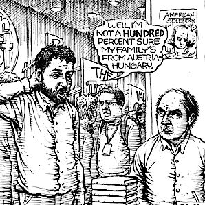 A panel from ?Legendary Vienna? by Harvey Pekar and Joseph Remnant.