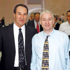 Neuro-linguist Gil Peretz, right, co-author of ?Obama?s Secrets.?