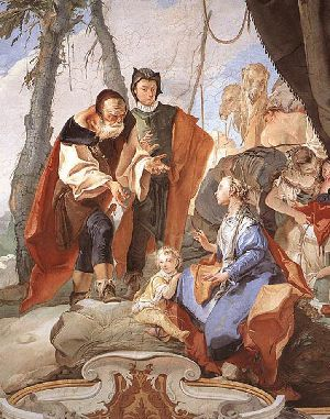 Fresco of Rachel sitting on the idols by Giovanni Battista Tiepolo