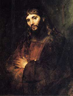 Rembrandt Harmenzoon Van Rijn, ?Portrait of Christ,? c. 1655-57. Courtesy of The Hyde Collection