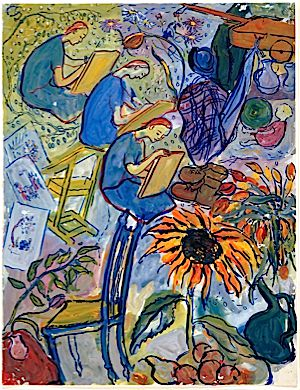 Gouache from ?Life? Or Theatre?? Courtesy of the Charlotte Salomon Foundation.