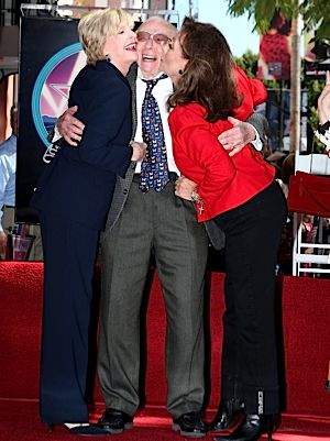 Sherwood Schwartz being honored with a star on the Hollywood Walk of Fame in 2008.