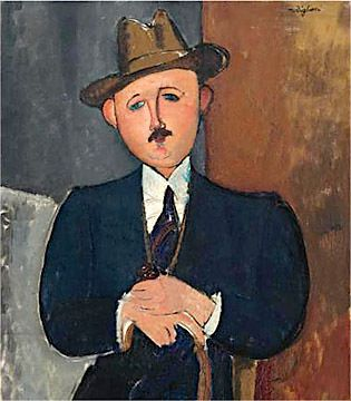 Amedeo Modigliani, ?Seated Man With a Cane,? 1918.