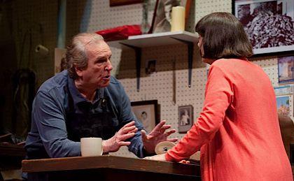 Danny Aiello tells Alma Cuervo he can?t fix her shoes in ?The Shoemaker.?